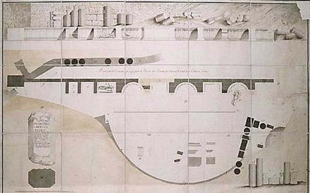 5 – Survey of the Roman Theatre carried out by the Architect of the Royal House Francisco Fabri (1798). Archive of the Roman Theatre Museum
