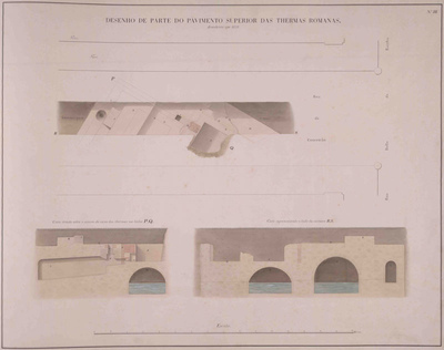 6 – Survey of the traces of the Roman Galleries carried out by Valentim de Freitas (1859)