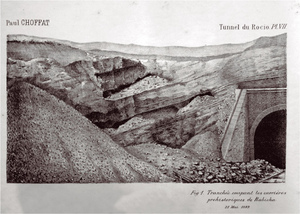 9 – Engraving from at that time photography of flint extraction galleries in Campolide